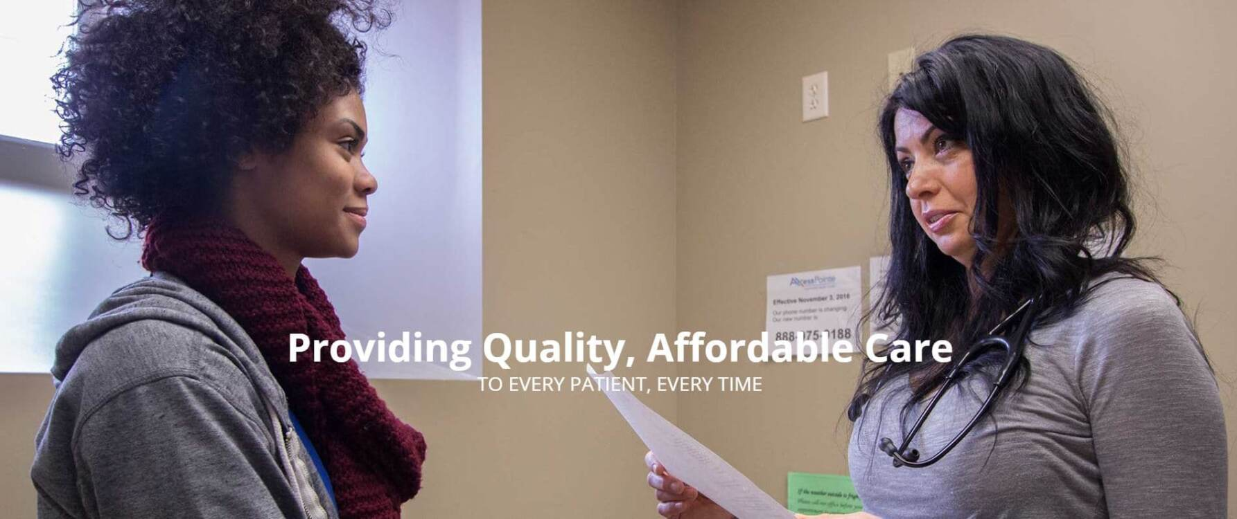 AxessPointe | Providing Quality, Affordable Care to Every Patient, Every Time | A doctor speaking with their patient