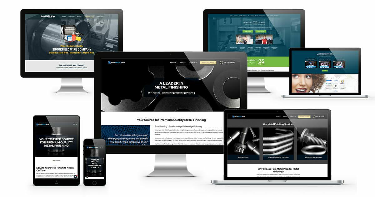 eCommerce Web Design Near Me | ADVAN Design website examples on desktop, laptop, and mobile.