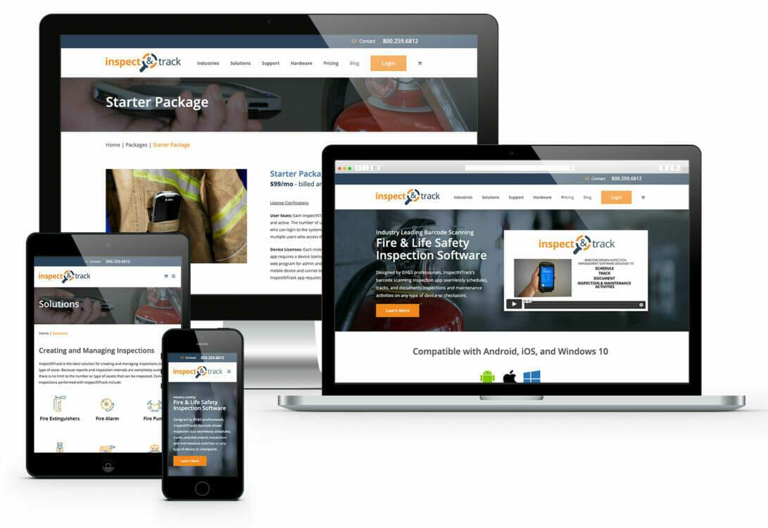 eCommerce Website Design Near Me   Examples of ADVAN web designs on desktop, laptop, and mobile.