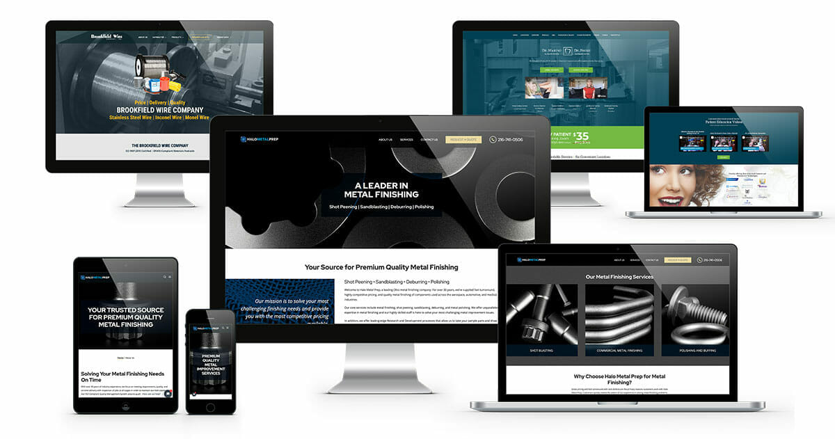 Web development near me | ADVAN Design project examples displayed on desktops, laptops, and mobile devices.
