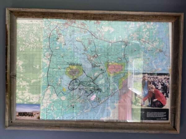 photo of map from the military