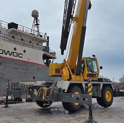 carry deck crane rental