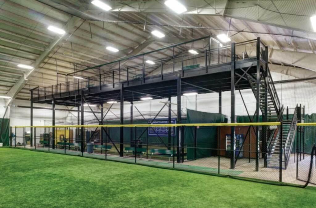 A mezzanine in an indoor sports facility | R.W. Martin mezzanines