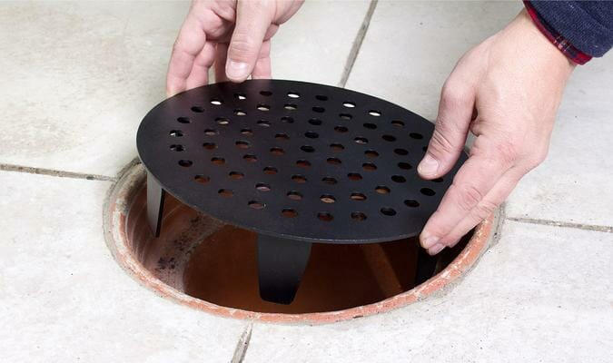 clay bell cover garage drain