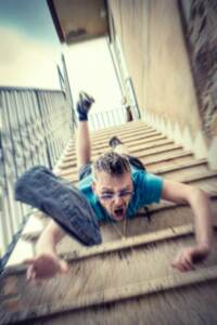 falling down the steps