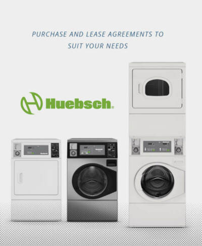 3 models of Huebsch washer and dryers | Coin operated laundry equipment