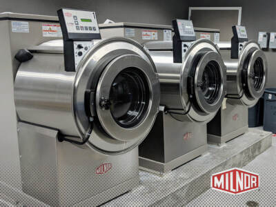 3 Milnor dryers | Commercial laundry equipment