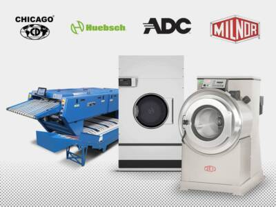 Commercial laundry equipment brands offered by HM laundry