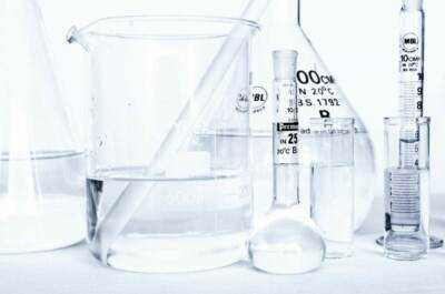 Various beakers and vials filled with water   Water treatment methods