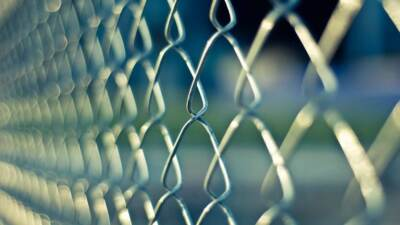 A stainless steel wire chain link fence