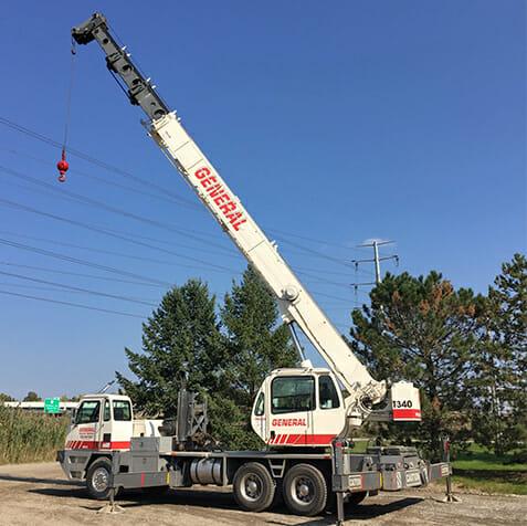 truck crane rental near me